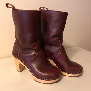 Red Swedish Hasbeens boots